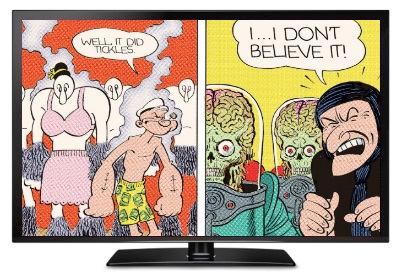 comedy comics mars attacks popeye index